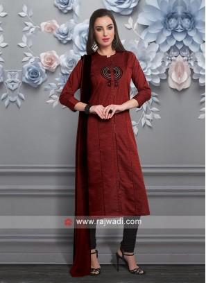 Resham and Zari Work Salwar Suit