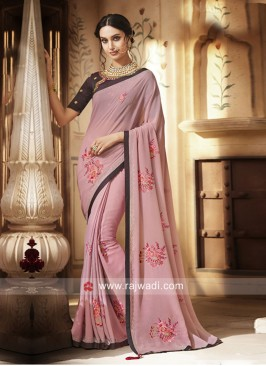 Resham and Zari Work Saree