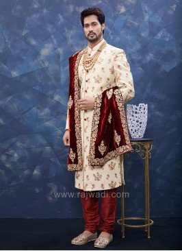 Resham and Zari Work Sherwani
