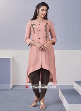 Resham and Zari Work Stitched Dhoti Suit
