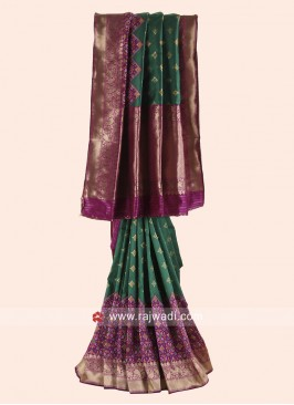 Resham and Zari Woven Patola Saree