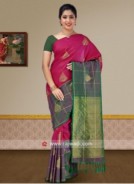 Resham and Zari Woven Saree