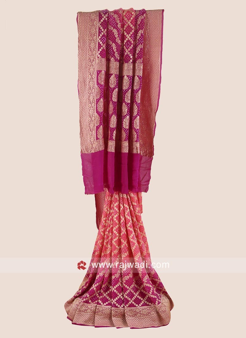Resham and Zari Woven Wedding Saree