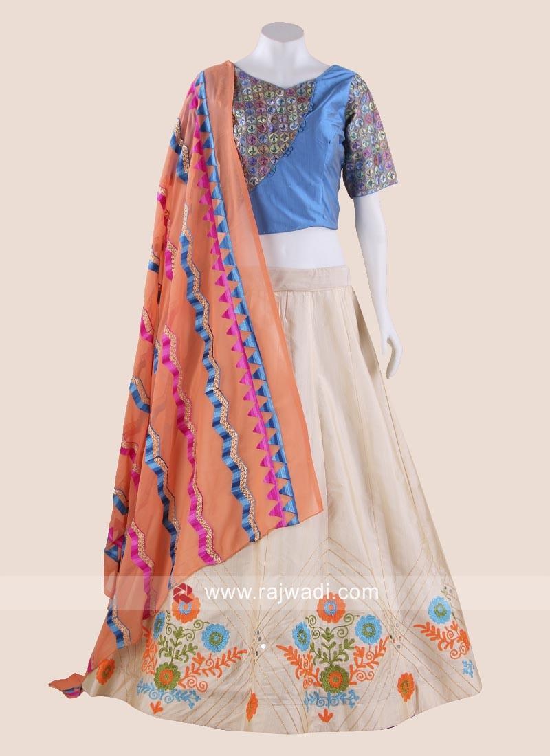 Resham Thread Work Chaniya Choli