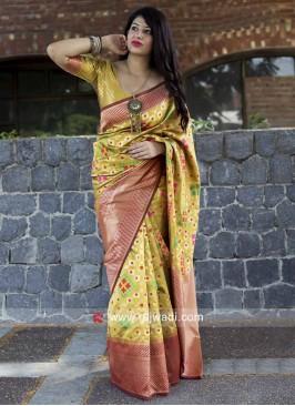 Resham Weaved Saree with Border