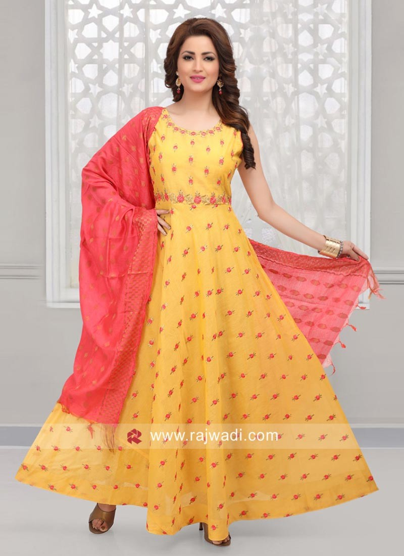 Resham Work Anarkali Suit