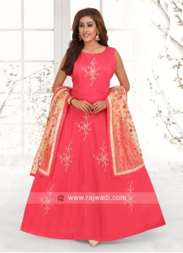 Resham Work Anarkali Suit