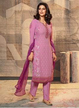 Resham Work Dress Material