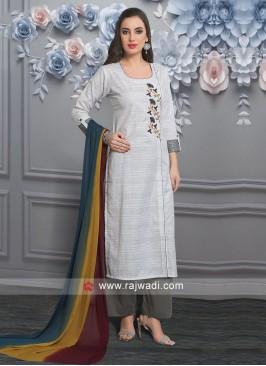 Resham Work Palazzo Suit