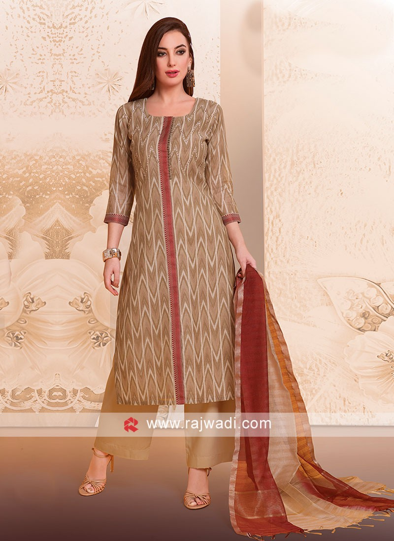 Resham Work Palazzo Suit For party