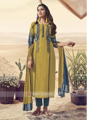 Resham Work Pant Style Suit