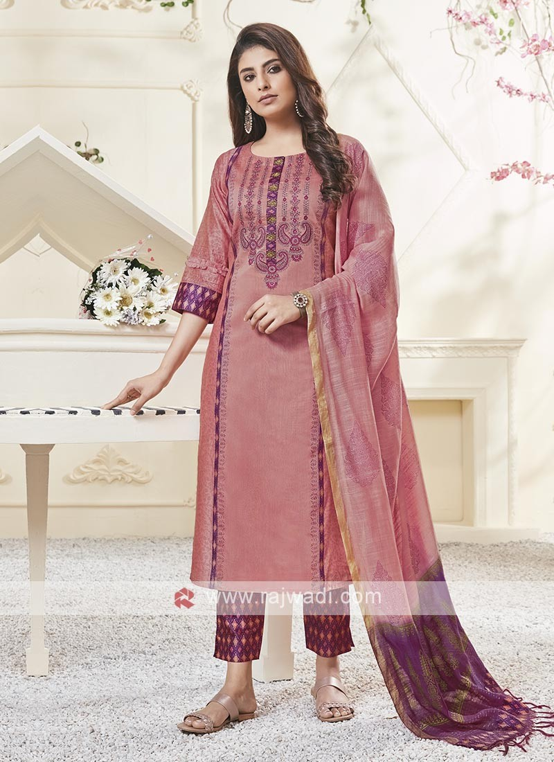 Shagufta Resham Work Pant Salwar Suit