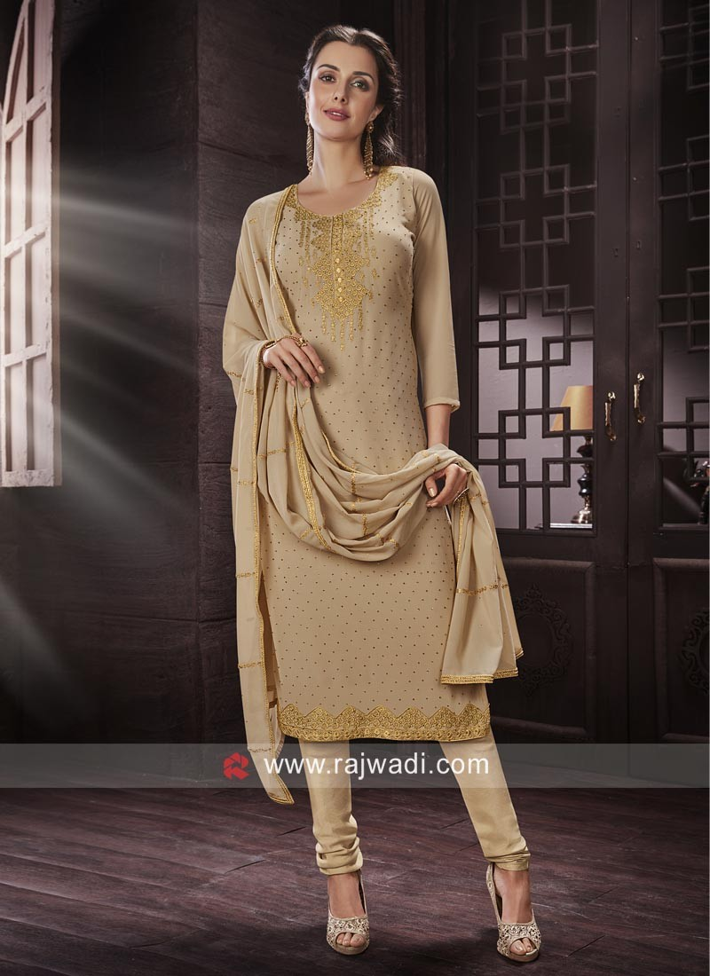 Resham Work Party Wear Salwar Kameez