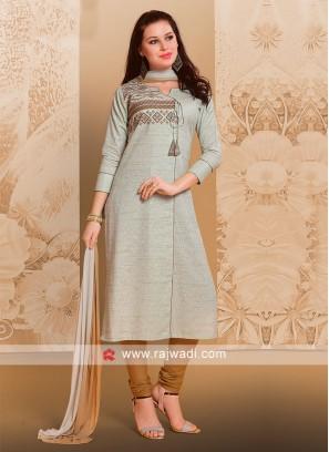 Resham Work Salwar Suit