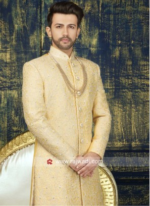 Resham Work Sherwani For Wedding