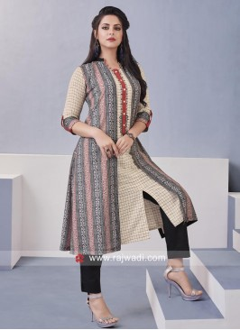 Resham work Slit Trouser Suit