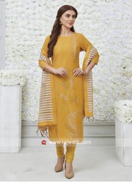 Resham Work Stitched Salwar Suit