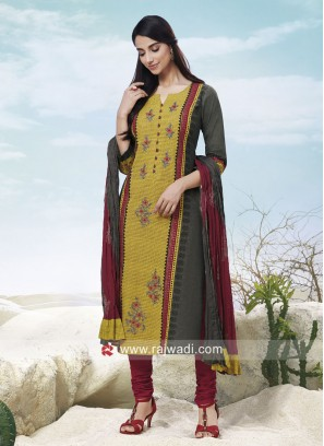 Resham Work Straight Fit Suit