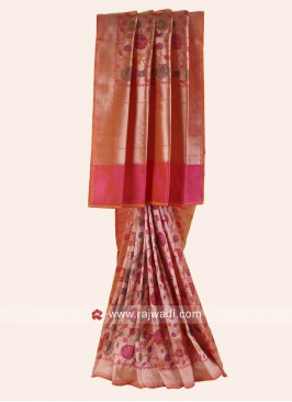 Resham Woven Saree with Border
