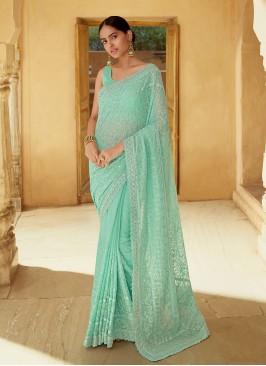 Resplendent Mirror Classic Designer Saree