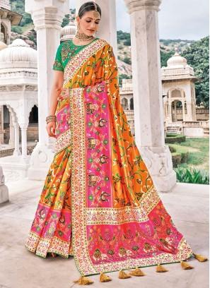 Resplendent Silk Wedding Bollywood Saree