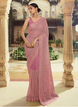 Riveting Purple Trendy Saree