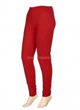 Romantic Red Coloured Leggings
