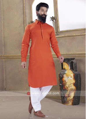 Orange color Pathani Suit