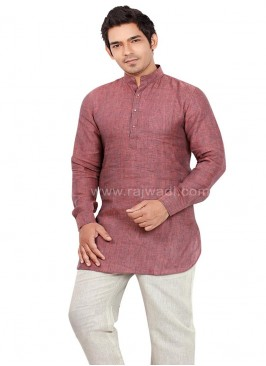 Rosy Brown coloured Pathani Suit