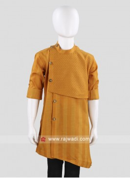 Round Neck Dark Gold Kurta