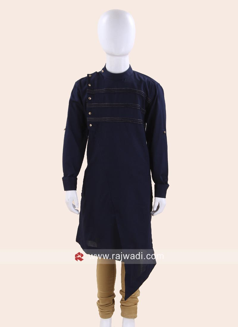 Round Neck Kurta For Kids
