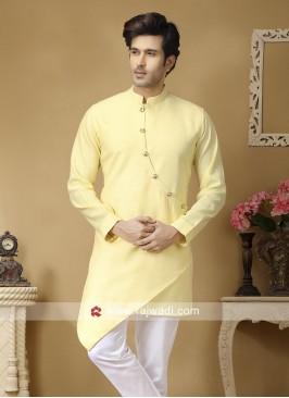 Light Yellow Kurta For Mens