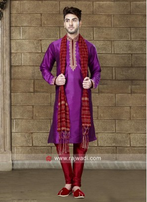 Attractive Magenta Color Kurta Set