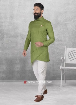 Round Neck Mens Pathani Set