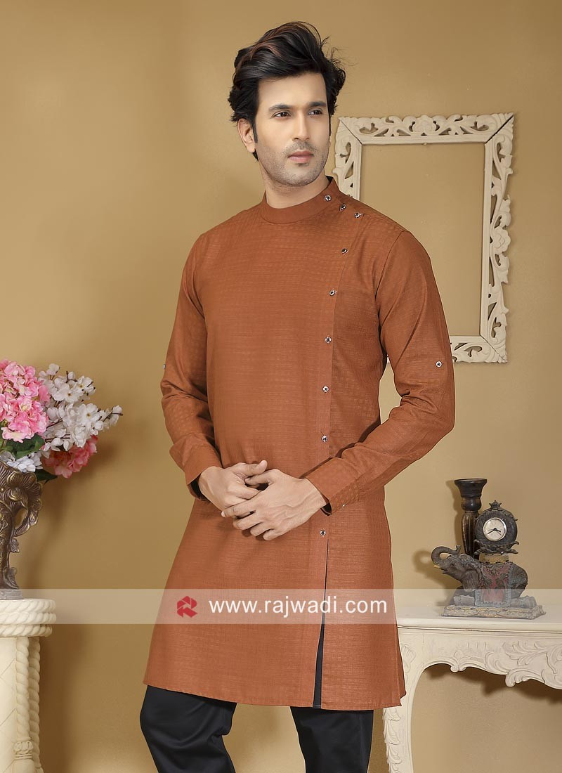 Round Neck Peru Color Kurta