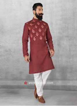 Attractive Round Neck Pathani