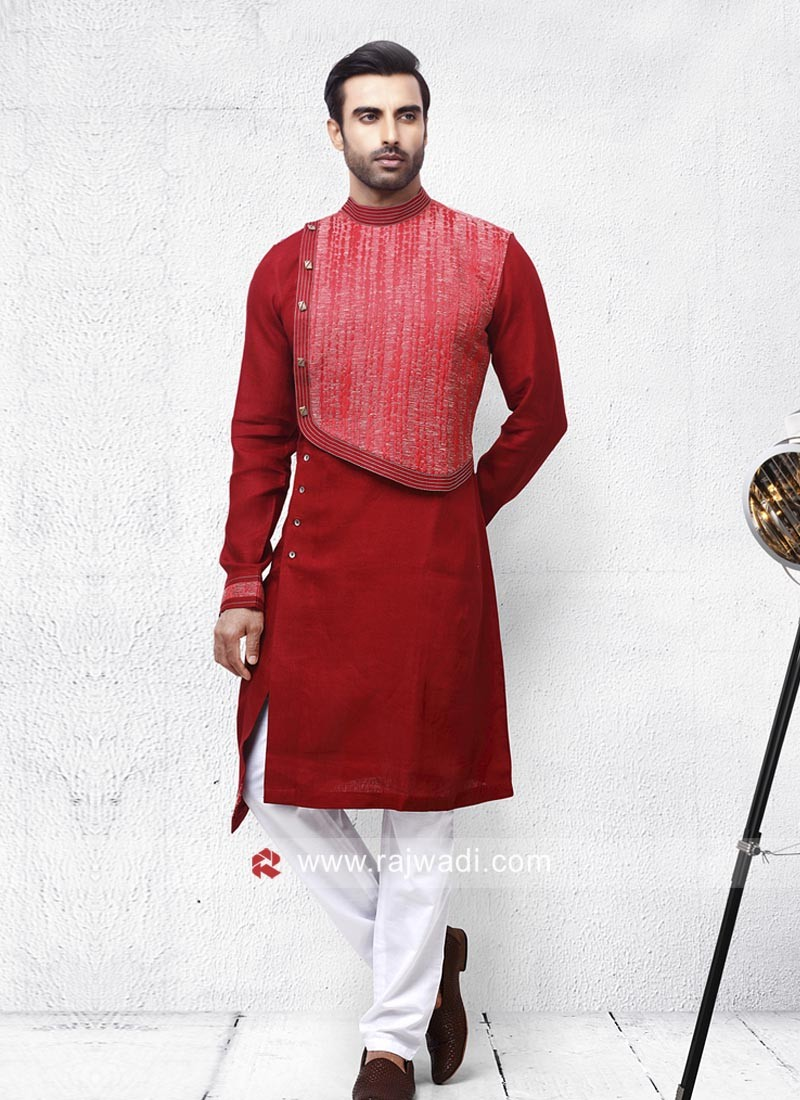 Round Neck Pathani For Mens