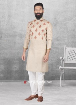 Round Neck Pathani Suit