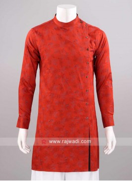 Round Neck Rust Color Kurta