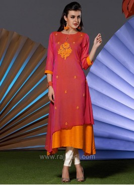 Round Neck Short Long Kurti