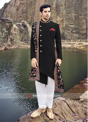 Royal Black Indo Western With Stylish Dupatta