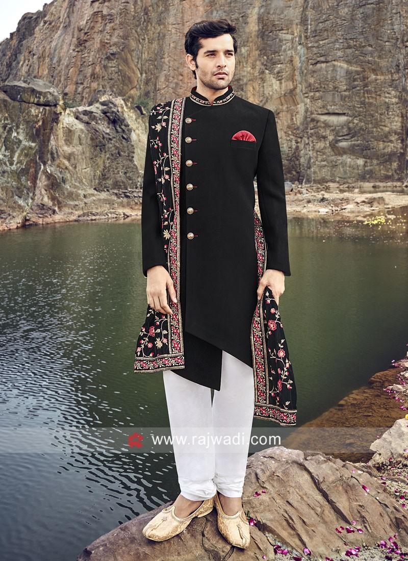 Royal Black Indo Western With Stylish Dupatta