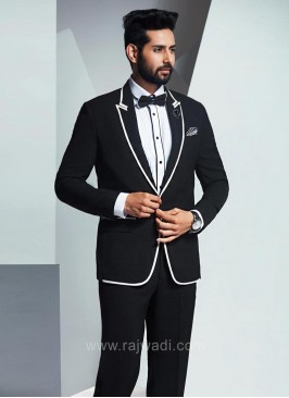 Royal Black Suit for Wedding