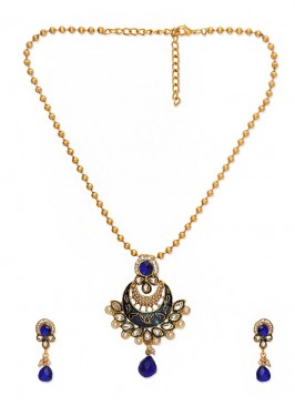 Royal Bling Blue Pendant Set for women