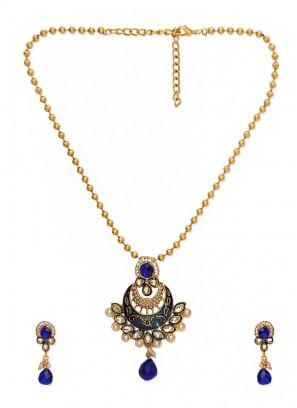 Royal Bling Blue Pendant Set for women