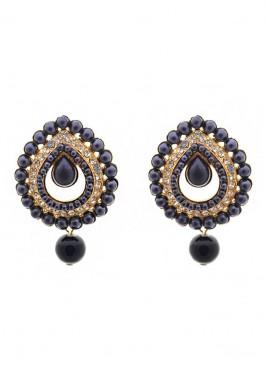 Royal Bling Pearl Drop Earrings