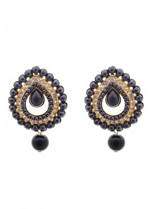 Royal Bling Pearl Drop Earrings
