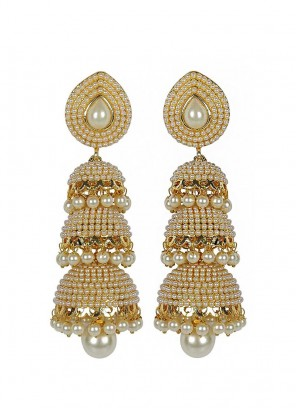 Royal Bling Traditional Three Layer Jhumki Earrings