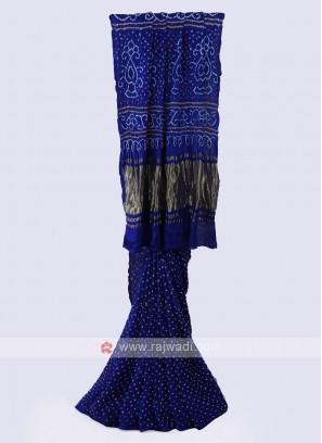 Royal Blue Bandhani Saree