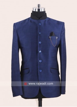Royal Blue Color Jodhpuri Set